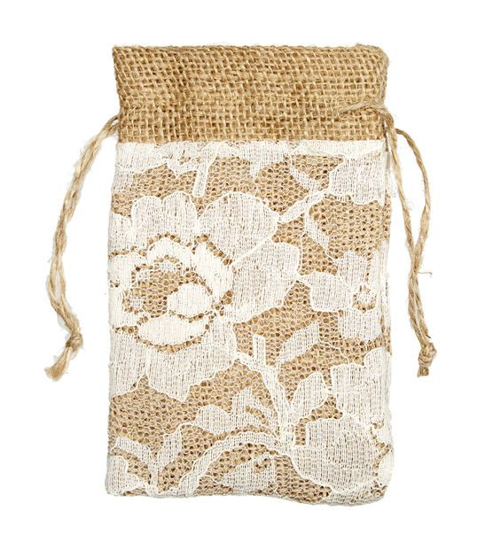 Lace Burlap Bags | Shabby Chic Wedding Ideas from @Jo-Ann ...