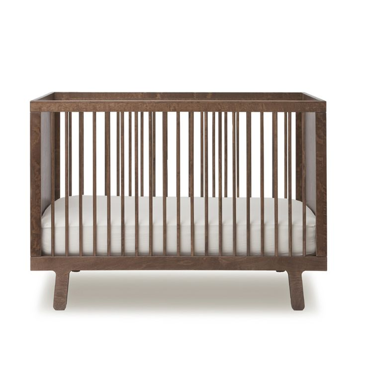 So in love with this modern walnut crib!