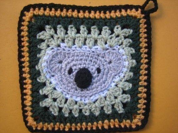 Koala square  rugalugs crochet pattern by crochetroo on Etsy, $3.00