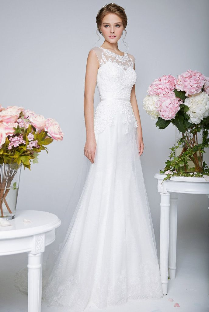 Spectacular Wedding Dresses with Illusion Necklines These dresses manage to be both soft and feminine while