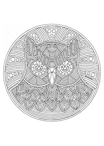 owl mandala coloring page from animal mandalas category select from 24848 printable crafts of cartoons nature animals bible and many more - Animal Mandala Coloring Pages Owl