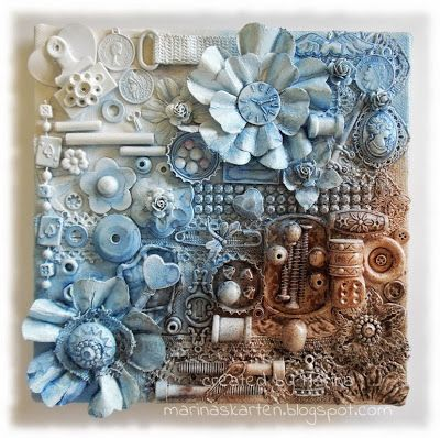 Mixed Media Canvas - Pin is in german, but would love to make something like this w/ randomness!!