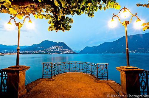 Lake Lugano, Switzerland  It truly is this gorgeous in person.