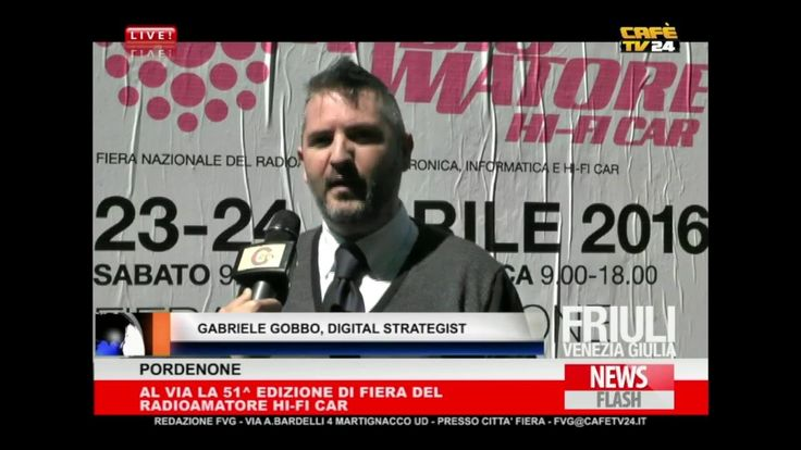 Anteprima Radioamatore 2016 sul telegiornale di Cafè TV 24
