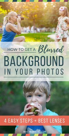"""Follow these easy step-by-step instructions to get a blurry background in your photos. Keep your subject sharp & in-focus, and get a beautiful, soft buttery blur in the back. These tips can be used for both DSLR and point-and-shoot cameras. It even includes the """"Best Recommended Lenses for Parents"""" (a.k.a. for taking pictures of your kids!)"""