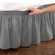 Elastic Bed Wrap Ruffle Bed Skirt