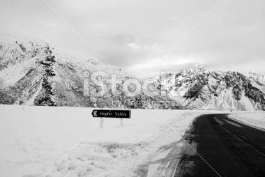 Road to the Hooker Valley, Aoraki National Park, NZ Royalty Free Stock Photo