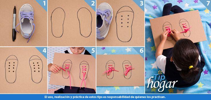 Tip para amarrarse las Agujetas. Aprender a amarrarse las agujetas es una de las lecciones que más se les dificulta a los niños pequeños, enseña a tus hijos a hacerlo y ayúdalos a practicar constantemente con este sencillo tip. Visítanos y encuentra una gran variedad de zapatos y tenis para tus hijos. En Walmart SIEMPRE encuentras TODO y pagas menos.
