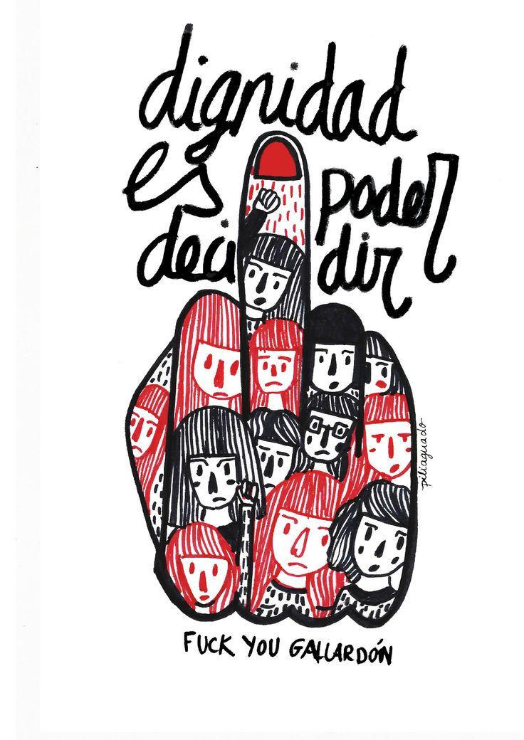 Mi pequeña aportación a Wombastic #abortolibre, #yodecido Porque la dignidad es el derecho a poder decidir y vamos a luchar por ello. Fuck you Gallardón @PiliAguado illustration illustration