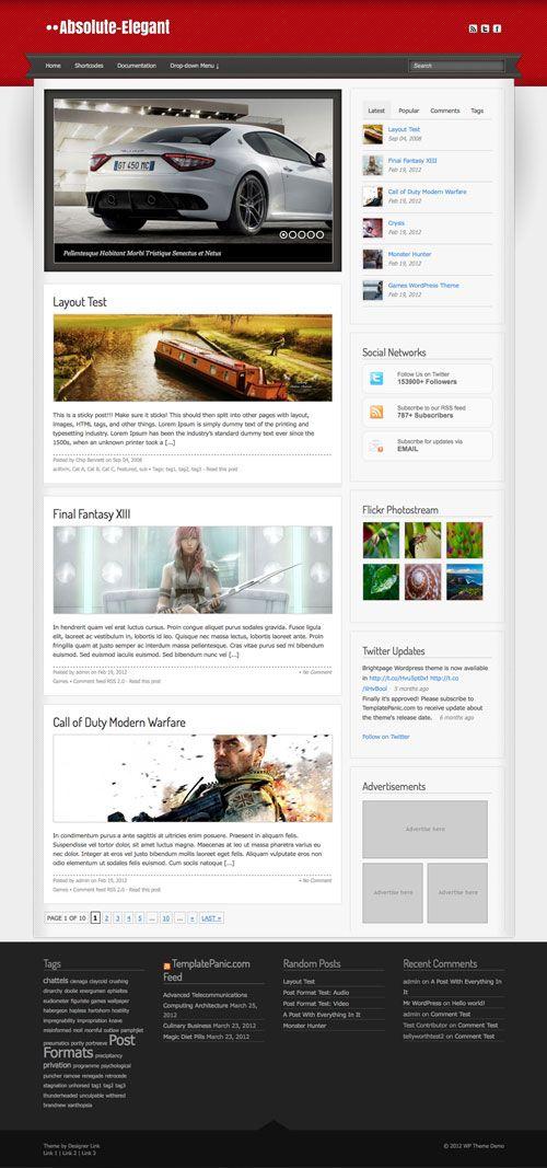 Absolute-Elegant WordPress Theme | TemplatePanic.com