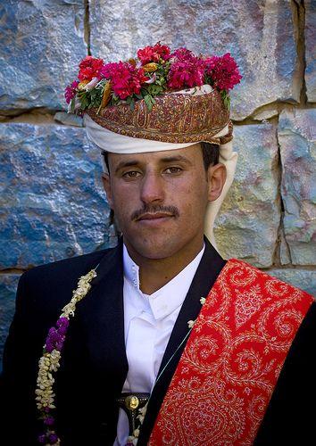 floral headdress, yemen