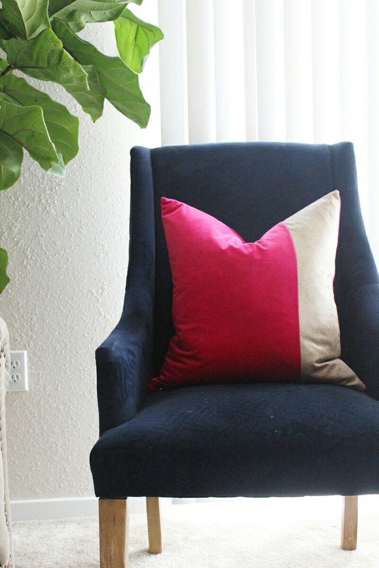 Fuchsia velvet pillow with tan snakeskin detail695 best Living Room Lookbook images on Pinterest   Living room  . Pillows Living Room. Home Design Ideas