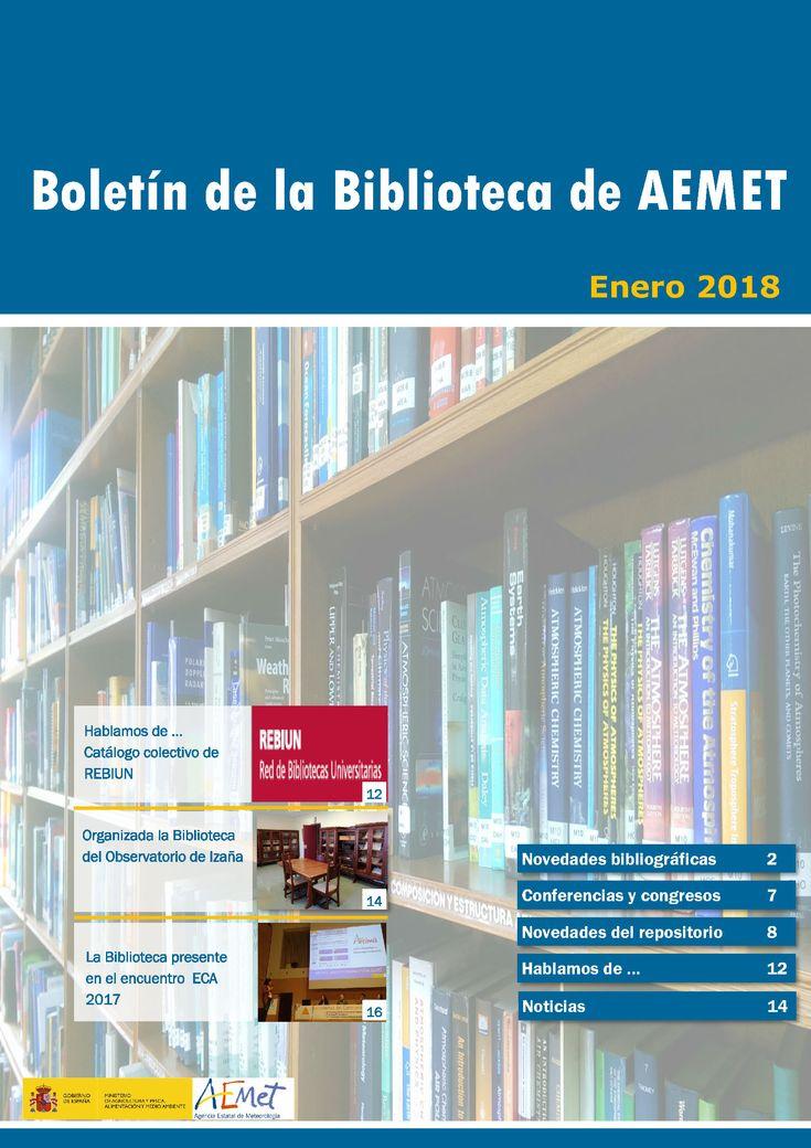 Boletín de enero de 2018 de la Biblioteca de AEMET