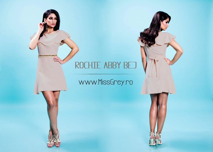 Beautiful short day dress in shades of beige, perfect for daily spring outfits: https://missgrey.ro/ro/produse-noi/rochie-abby-bej/317?utm_campaign=colectie_aprilie&utm_medium=abby_bej&utm_source-pinterest_produs