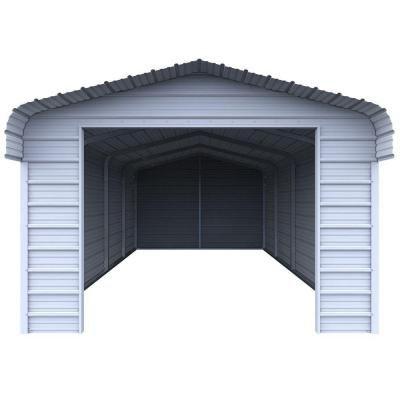 VersaTube Enclosure Kit for 12 ft. W x 20 ft. L x 7 ft. H Steel Carport-EK1218072 - The Home Depot