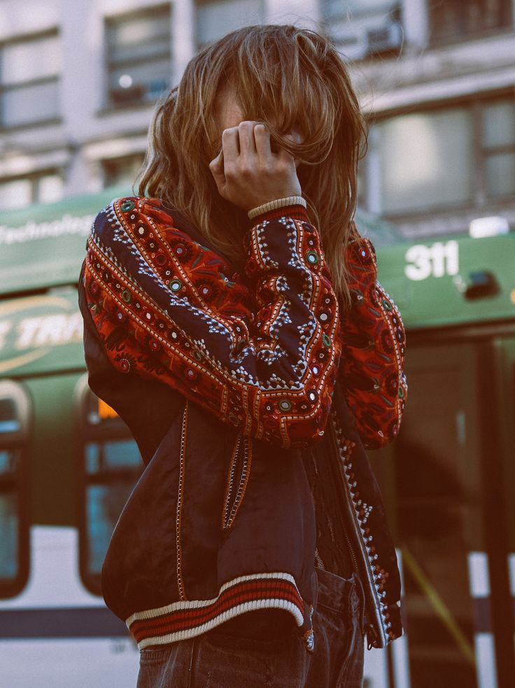New Romantics New Romantics Embellished Baseball Jacket at Free People Clothing Boutique