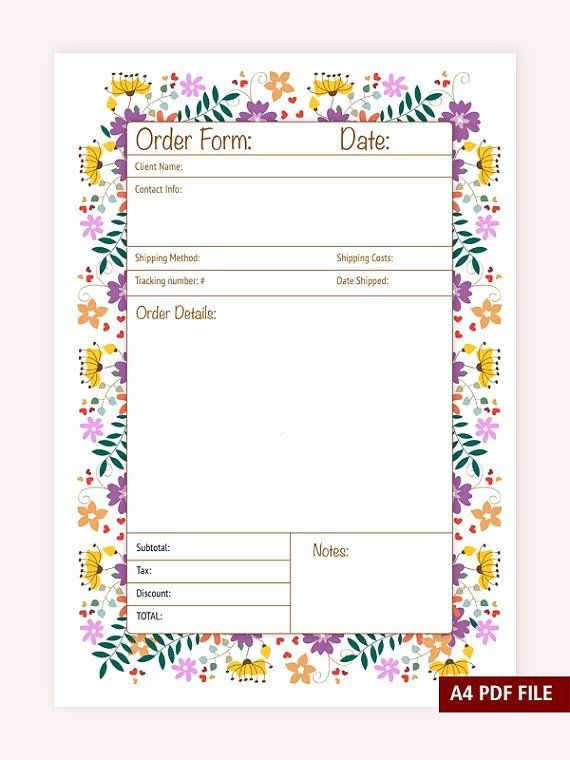 Free Craft Order Form Template Fresh Best 25 Order Form Ideas On Pinterest Free Printable Crafts Templates Printable Free Craft Business
