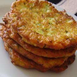 Mom's Zucchini Pancakes Allrecipes.com something new