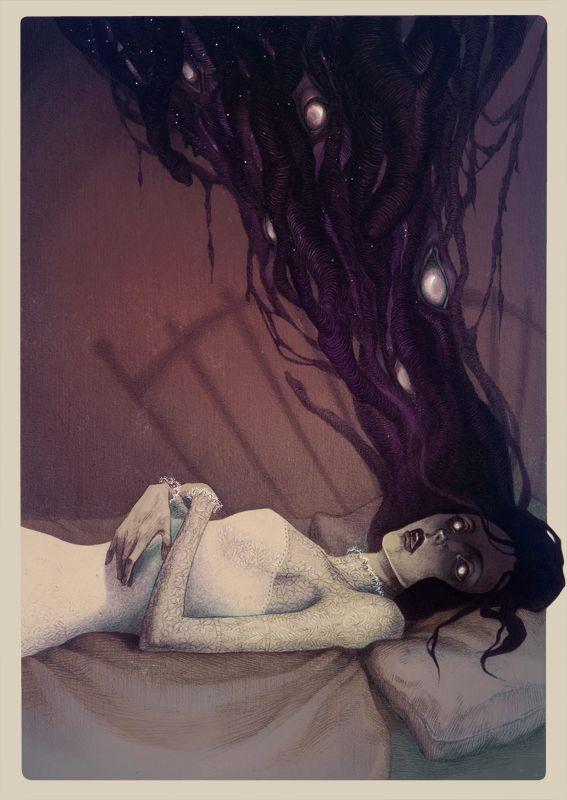 Sleep paralysis by MadLittleClown.deviantart.com on @deviantART