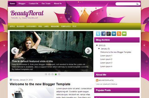 BeautyFloral Blogger Template