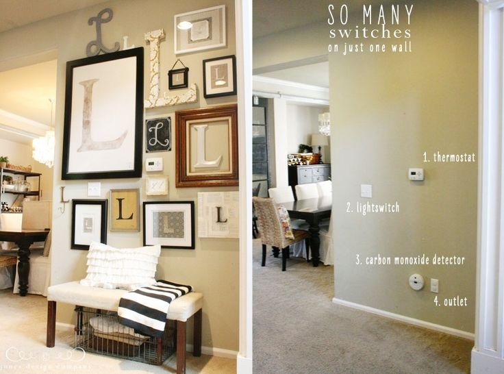 21 Ingenious Ways to Hide The Mess And The Eyesores In Your Home - hiding lightswitches and thermostat