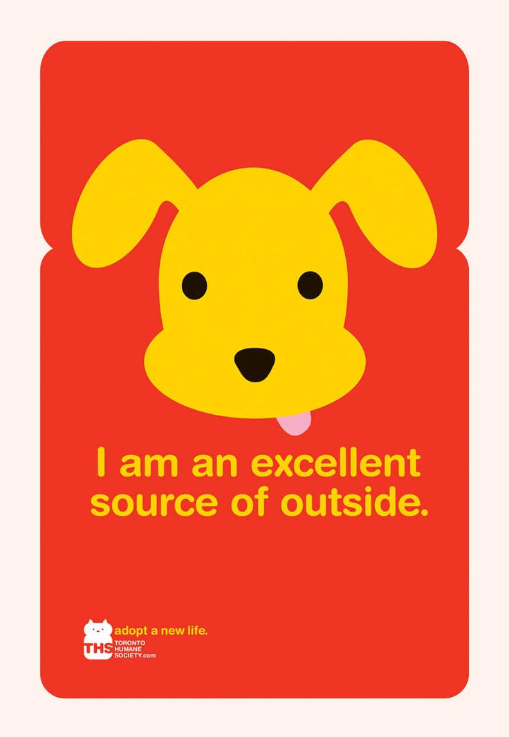 Nice public service ad for the Toronto Humane Society. (Leo Burnett was the agency that created it, I believe)
