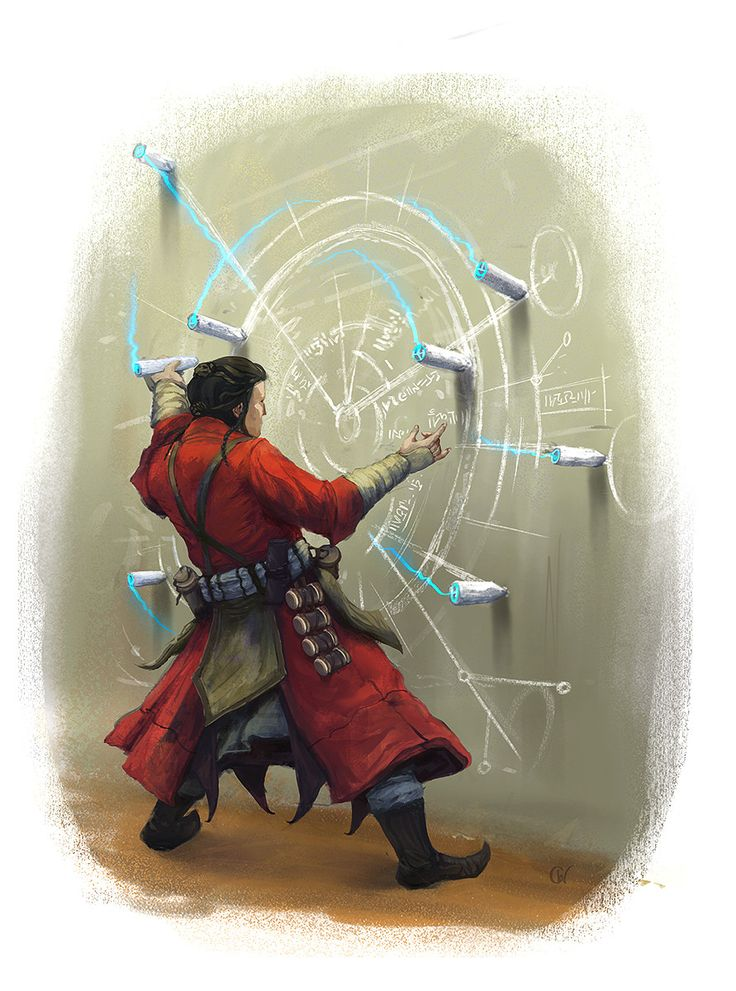 Portal mage opening a portal