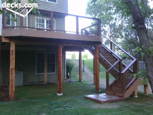 Raised Deck Deck Ideas Pinterest Posts Metals And