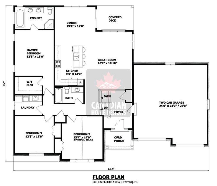 Small House Floor Plans | Hillside House Plans, Small ...