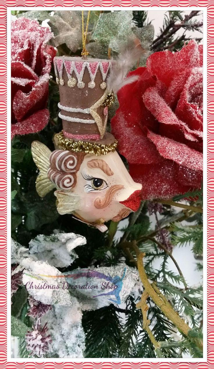 Kissing fish ornament - Our Nutcracker Kissing Fish Will Sure Dress Your Christmas Tree This Season