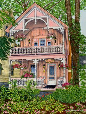 Thumbelina Cottage, Chautauqua, NY artist Thelma Winter