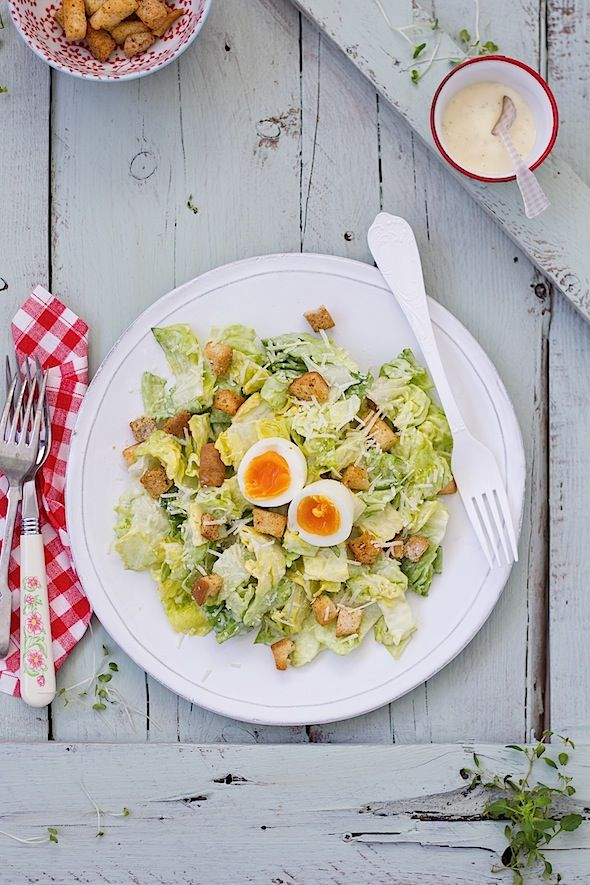 Caesar Salad (Ensalada César) www.foodandcook.net