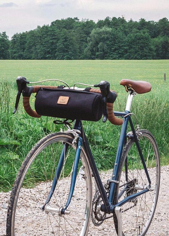 Round Bike Bag Handlebar Bag Cayolle By Velotton Bicycle