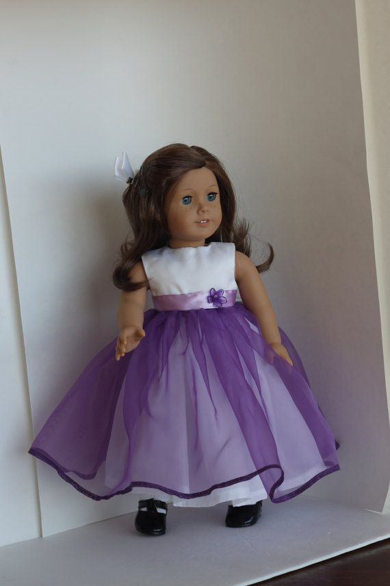Purple american doll skirt and top