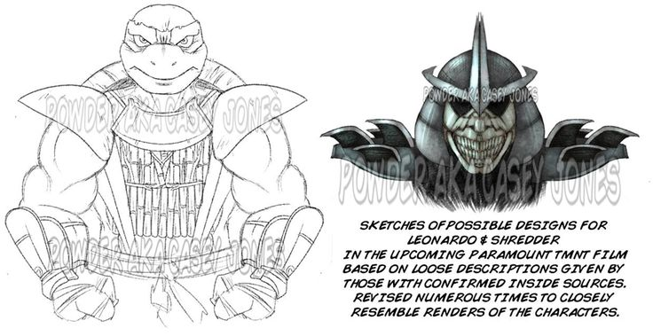 Is This What The New TMNT Movie Will Look Like? Sketches of possible designs for Leonardo & Shredder in the upcoming 2014 TMNT movie. Please tell us your thoughts, comment below or in our new forum. #TMNT #NinjaTurtles #TeenageMutantNinjaTurtles