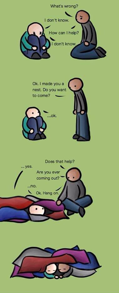 Very good guidance: How to help someone with depression