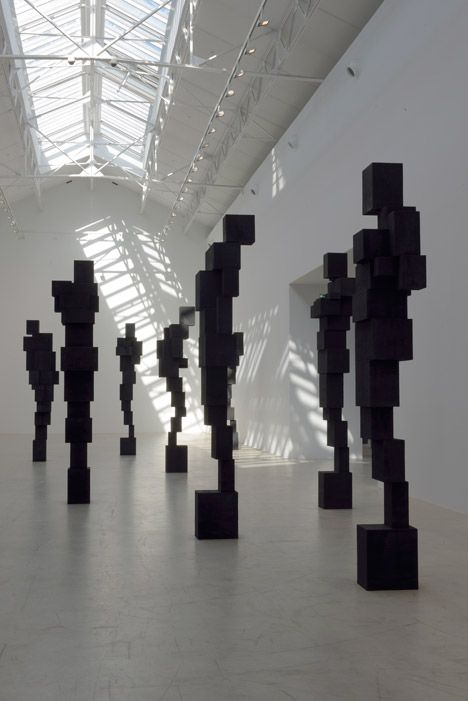 Antony Gormley occupies Parisian gallery with monumental metal sculptures.
