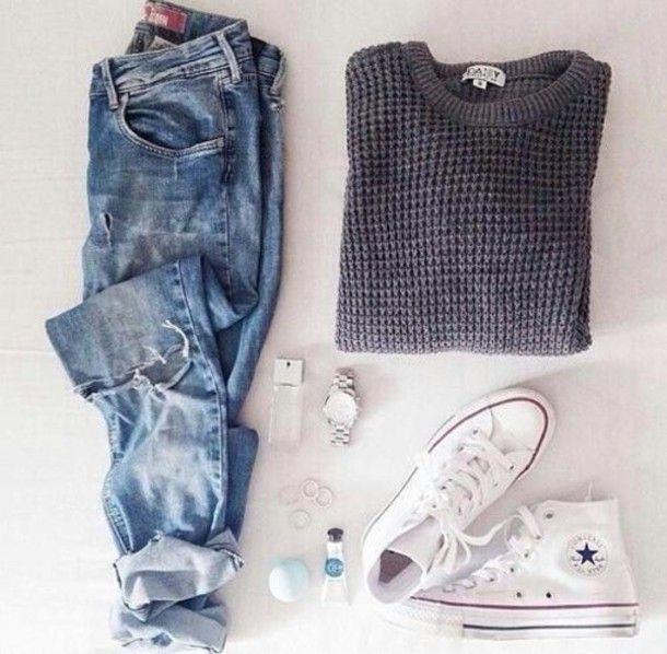 sweater + sneaks