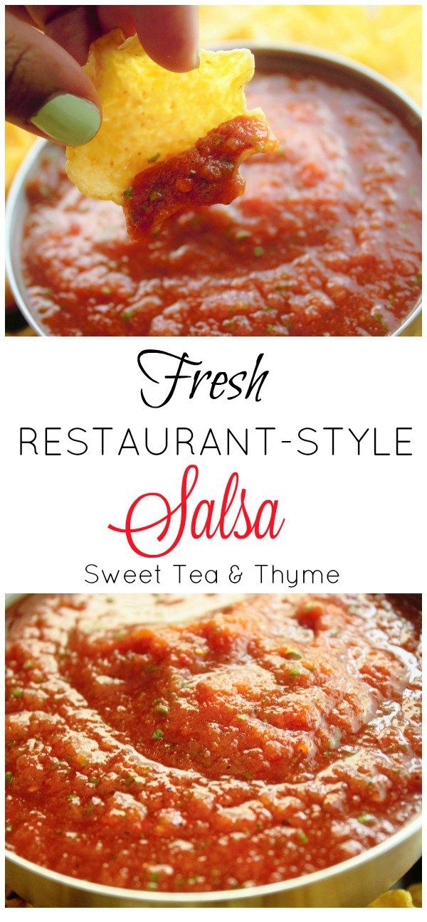 In less than 5 minutes, have a delicious, flavorful, and fresh salsa to enjoy all summer. And all you had to do was press the 'blend' button. - From Sweet Tea & Thyme