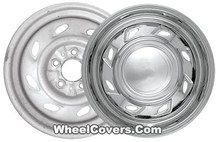"1993 1994 1995 1996 1997 1998 1999 2000 2001 2002 2003 2004 2005 2006 Ford Ranger Explorer Mazda B3000 B4000 Chrome Wheel Skins / Hubcaps / Wheel Covers 15"" 3070"