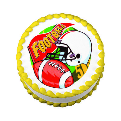 Football Fan Edible Image  Cake Decoration Sports-Themed ...