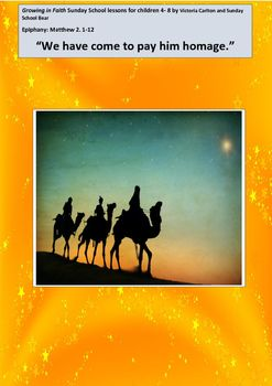 This is a very full lesson and you can actually use it over 2 Sundays! This very detailed Sunday School lesson is to help children to understand the wonder of EPIPHANY and also to consider what gifts they can offer Jesus. It is also written to help children understand the traditions associated with this special time! (E.g.