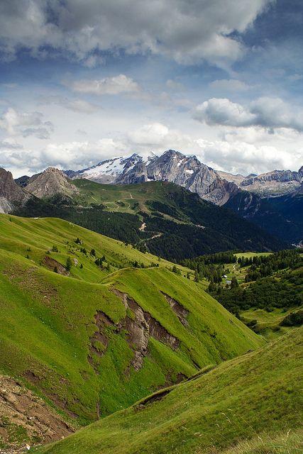 View of the Marmolada, Trento, Italy by kaibara87 Trento, Trentino - Alto Adige,