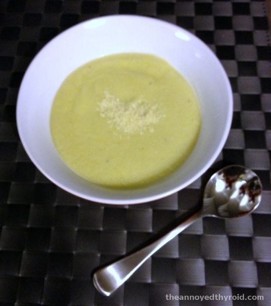 Thermomix Cauliflower and Leek Soup