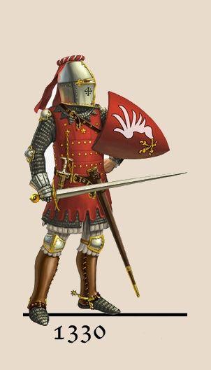 Armadura utilizada en la península ibérica durante la Edad Media.