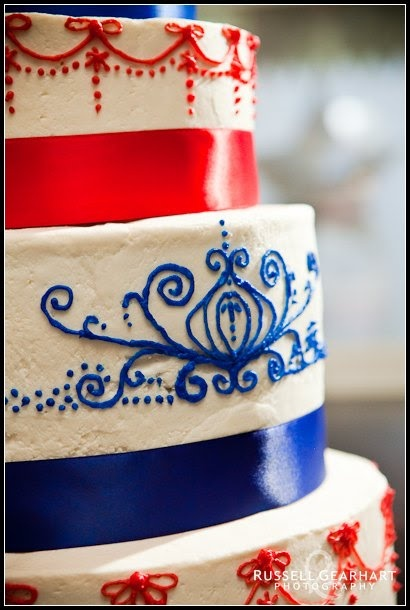 Red White And Blue Decorated Cakes