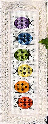Rainbow Ladybugs Bookmark - by Casey Buonaugurio Designs