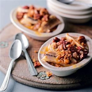 Butterscotch banana crumbles - Time for #Autumn Desserts!!!!