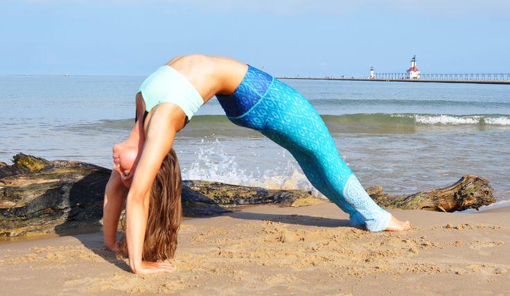 Beach Yoga Days   Reflection   Uniquely Yoga Boutique   Wheel Pose