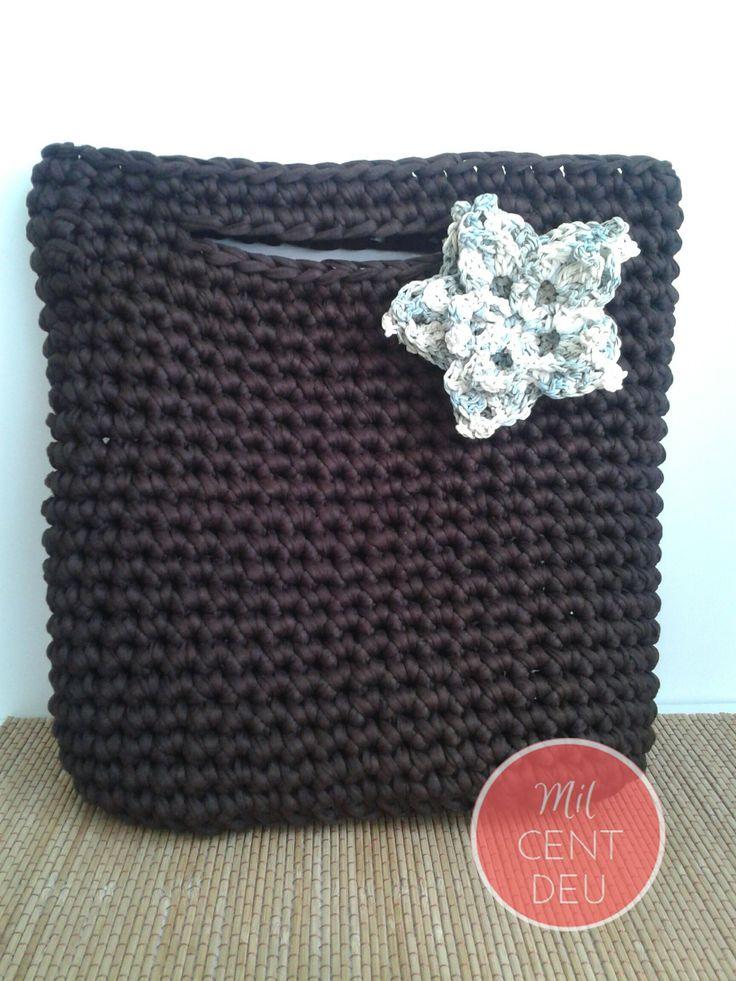 1000 images about trapillo en pinterest trapillo for Bolso crochet trapillo